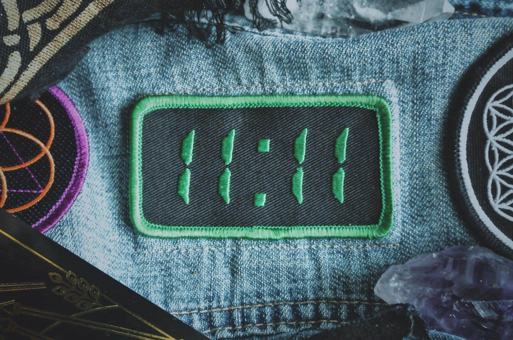 1111 Synchronicity Patch on Denim