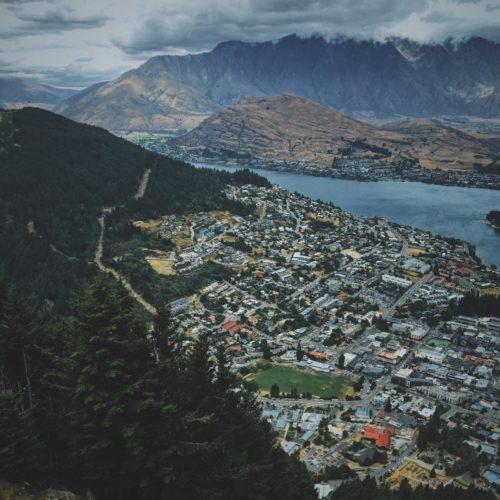 Aerial Queenstown New Zealand