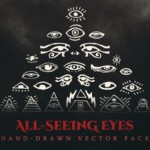 all seeing eyes vector art