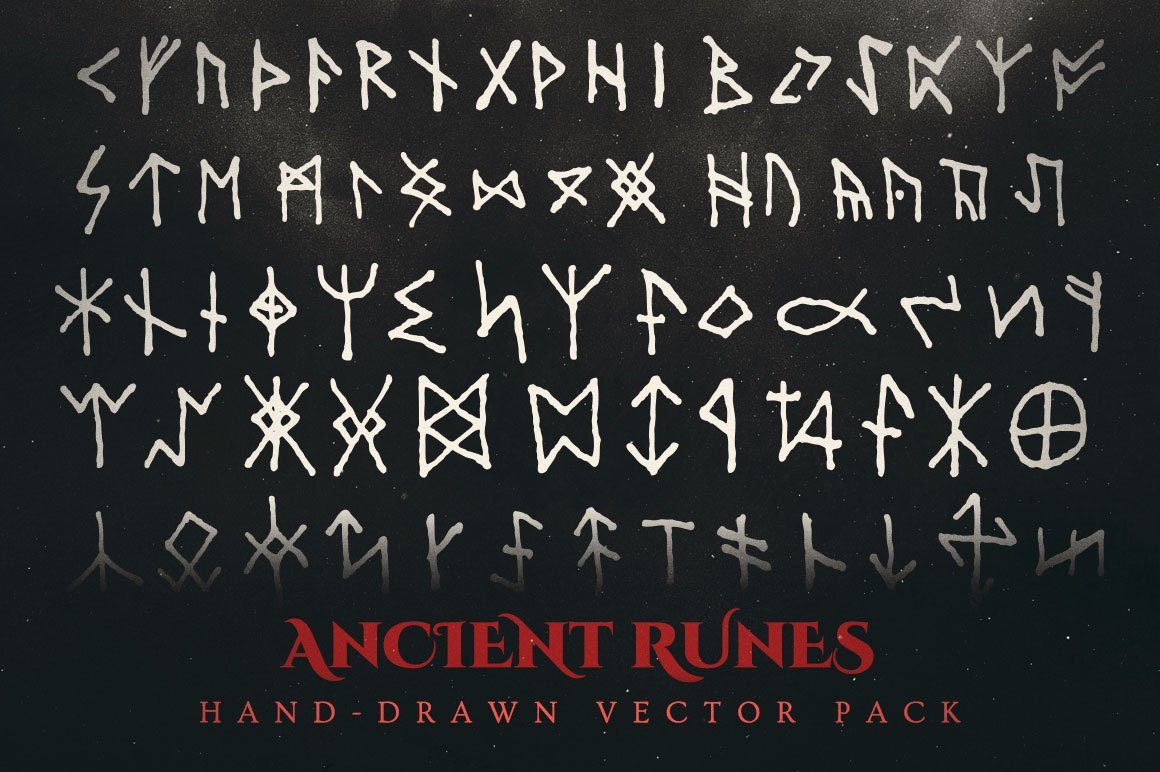 ancient runes vector illustrations