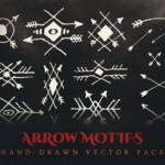 arrow motifs vector illustrations