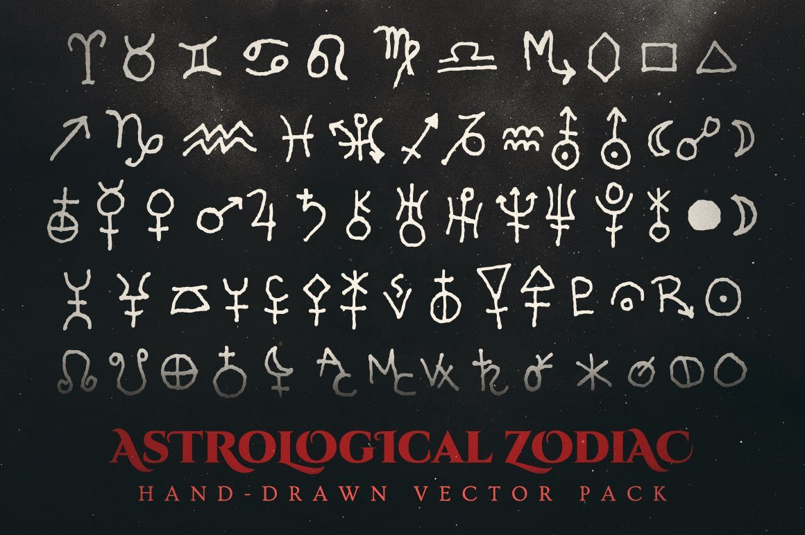 astrological zodiac vector pack
