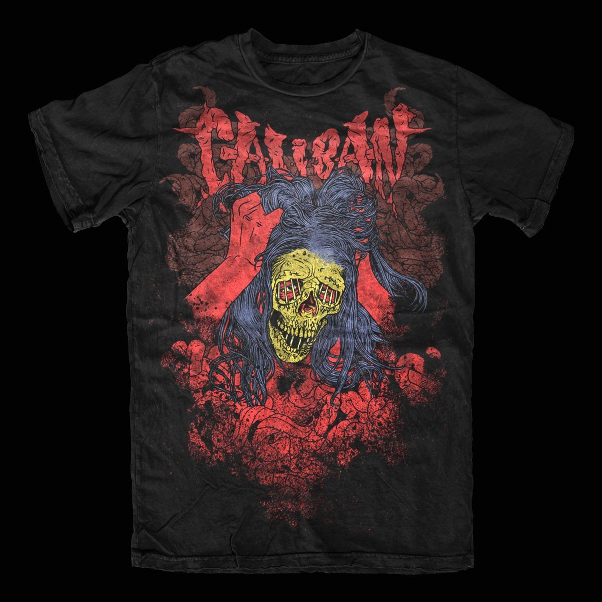Caliban – Skull T-Shirt Design
