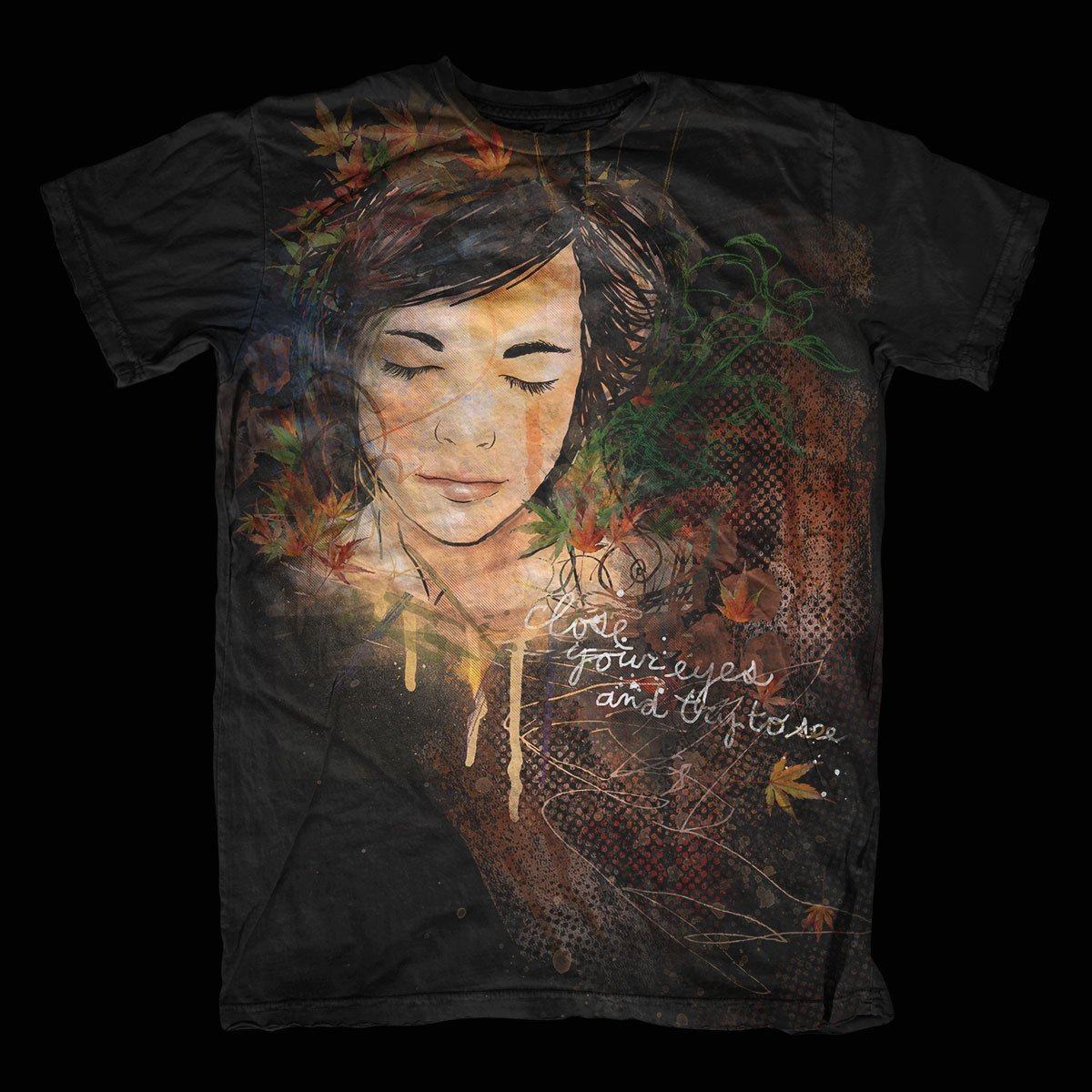 Close Your Eyes – T-Shirt Design