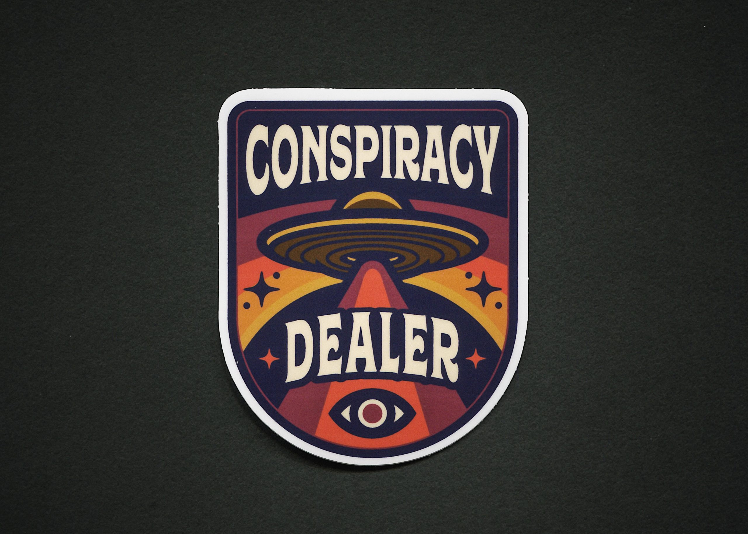 Conspiracy Dealer Sticker 1