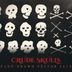 crude skulls vector graphics