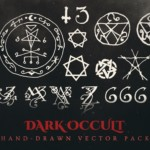 dark occult vector graphics