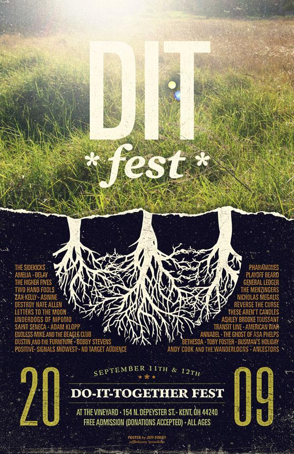 DIT Fest poster by Jeff Finley