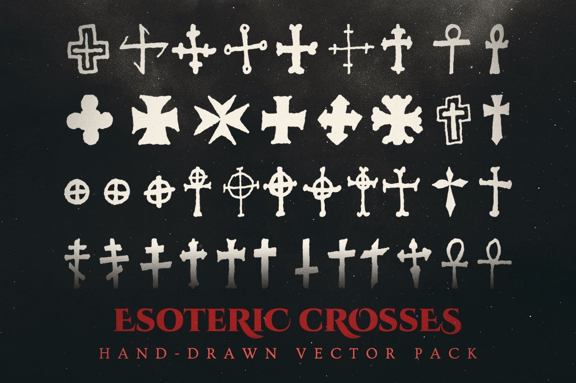 Esoteric crosses vector pack
