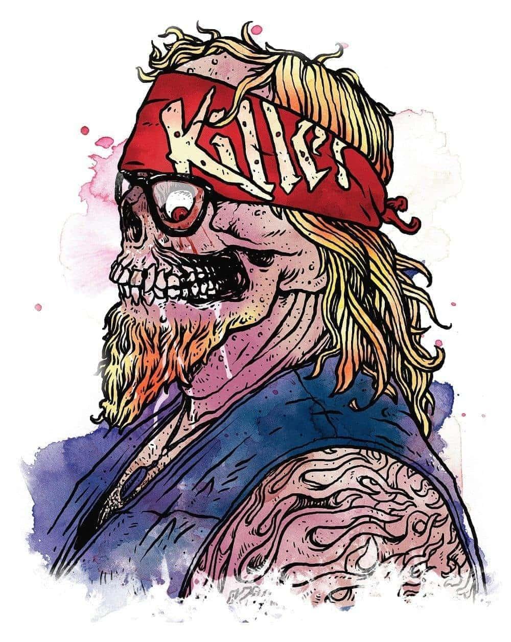 Killer Clothing Skull Guy Illustration by Jeff Finley