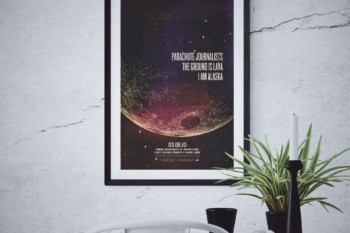 "Parachute Journalists Poster ""Moonlike"""