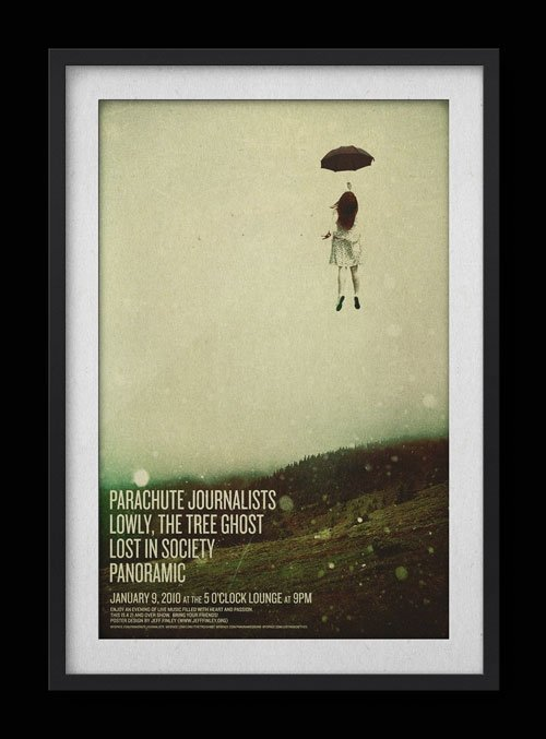 "Parachute Journalists – ""Umbrella Girl"" Poster"