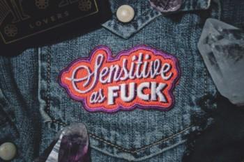 Sensitive as Fuck Patch - Punk/Emo Fashion Accessory
