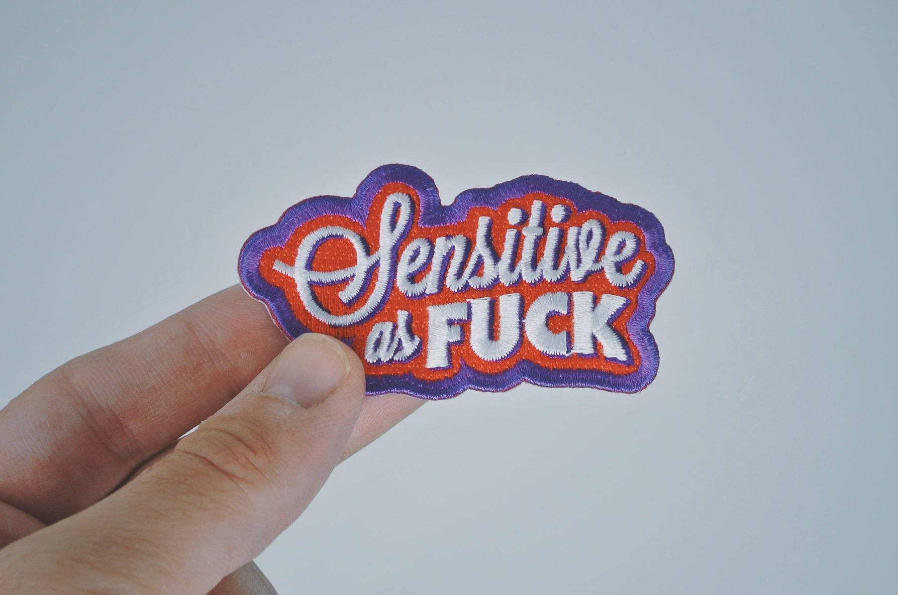 Sensitive as Fuck Patch - Punk/Emo Fashion Accessory