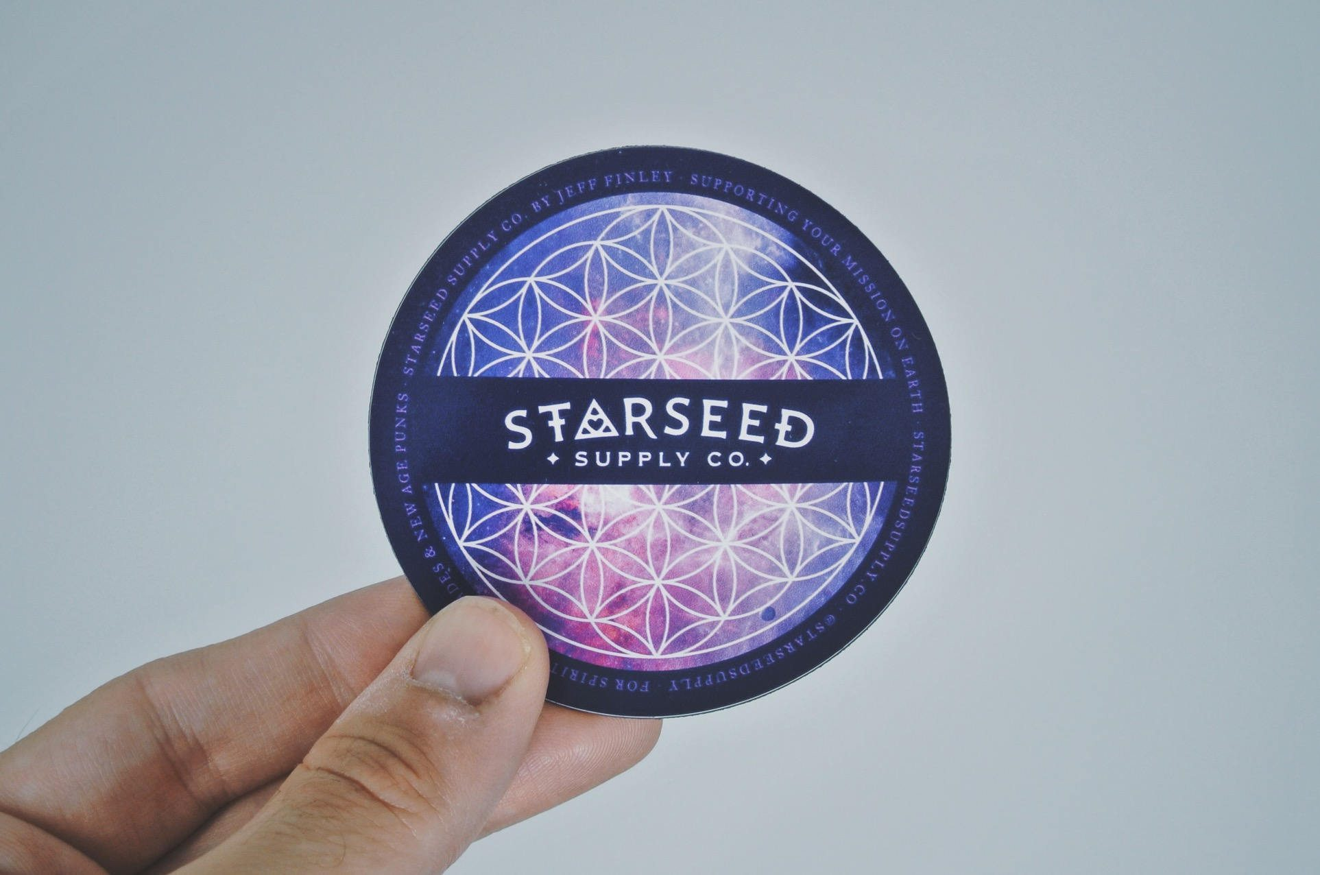 "Starseed Magnet (Flower of Life) - 3"" Metaphysical Refrigerator or Car Magnet"