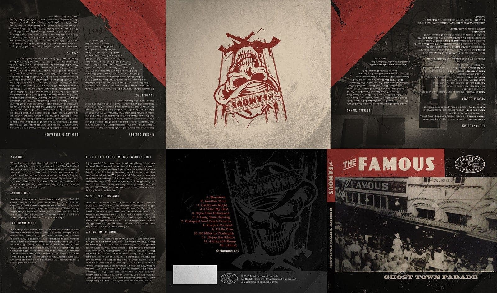 The Famous - Ghost Town Parade - album art by Jeff Finley