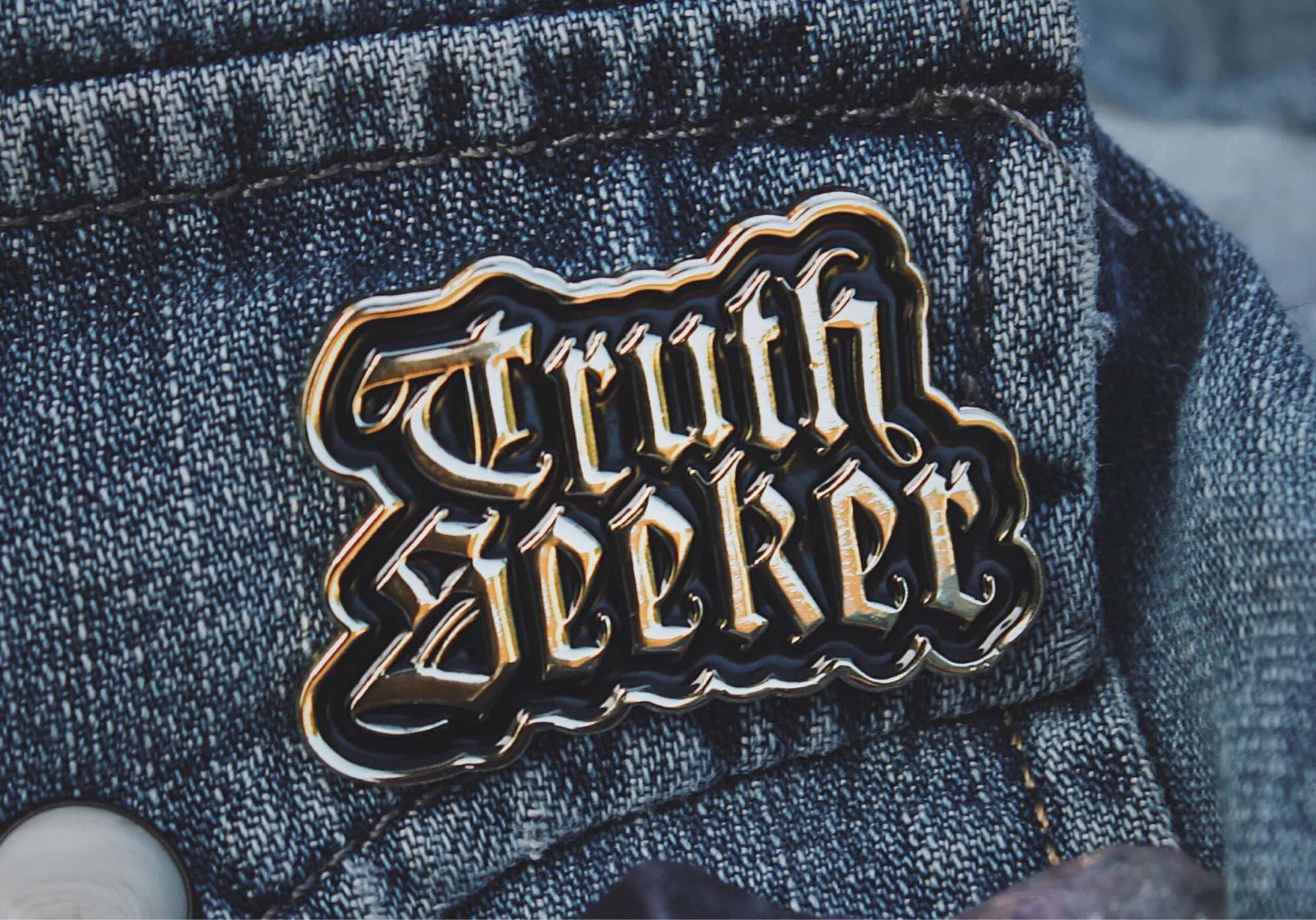 Truth Seeker Shiny Gold Pin