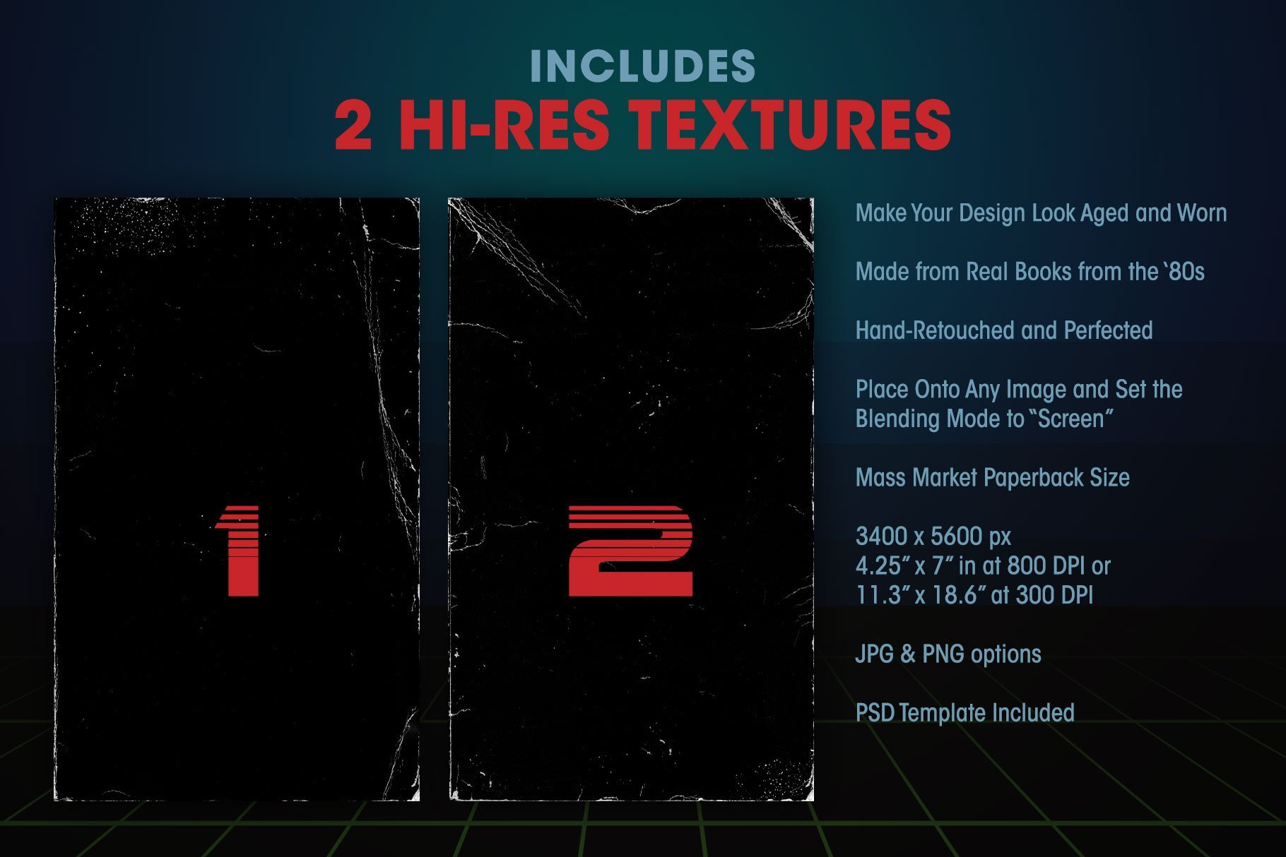 includes 2 hi-res textures