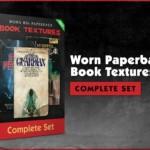 Worn 80s Paperback Book Textures Complete Set